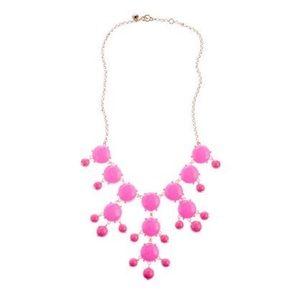 J. Crew Hot Pink Statement Bubble Necklace